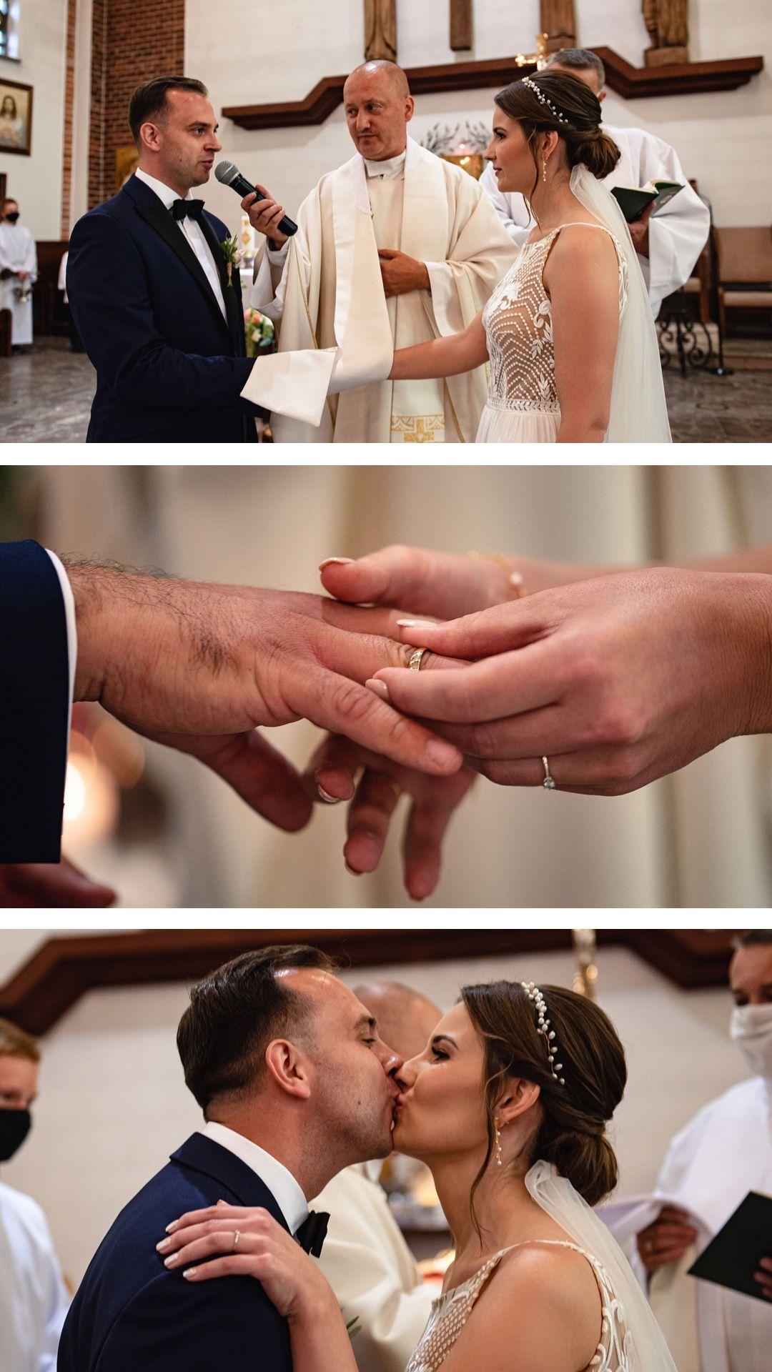 Św. Floriana Kolbudy, Ślub kościelny, przysięga kościelna, wzruszenie podczas przysięgi, say yes, zakładanie obrączek,