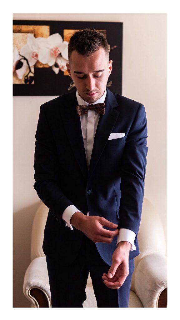 portret Pana Młodego, garnitur na Ślub, przygotowania Pana Młodego