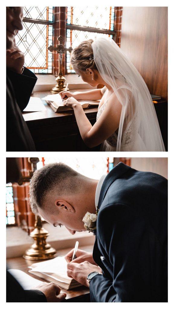 podpisanie dokumentów ślubnych,
