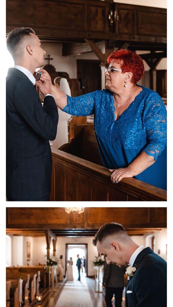 ślub kościelny, zdjęcia z kościoła, kościół Główczyce,