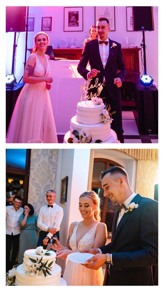 Pałac pod Dębem, Pałac Wielka Wieś, eleganckie wesele, wesele w starym dworku, najciekawsze miejsce na ślub, najpiękniejsze miejsce na wesele, top 10 sal weselnych, tort weselny,