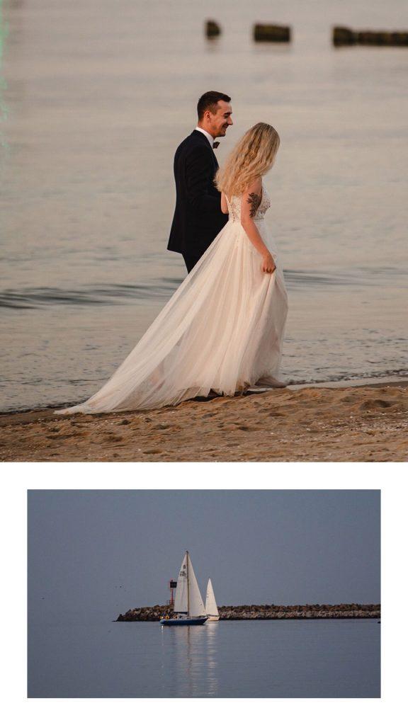 Plener ślubny Gdańsk, plener morze Gdańsk, plener na plaży, plener nad morzem, sesja na plaży, sesja o zachodzie slońca, sesja nad morzem, sesja ślubna Gdańsk, sesja ślubna trójmiasto, najciekawsze miejsce na plener ślubny, top 10 miejsc na sesję ślubną, Górki Zachodnie Gdańsk,