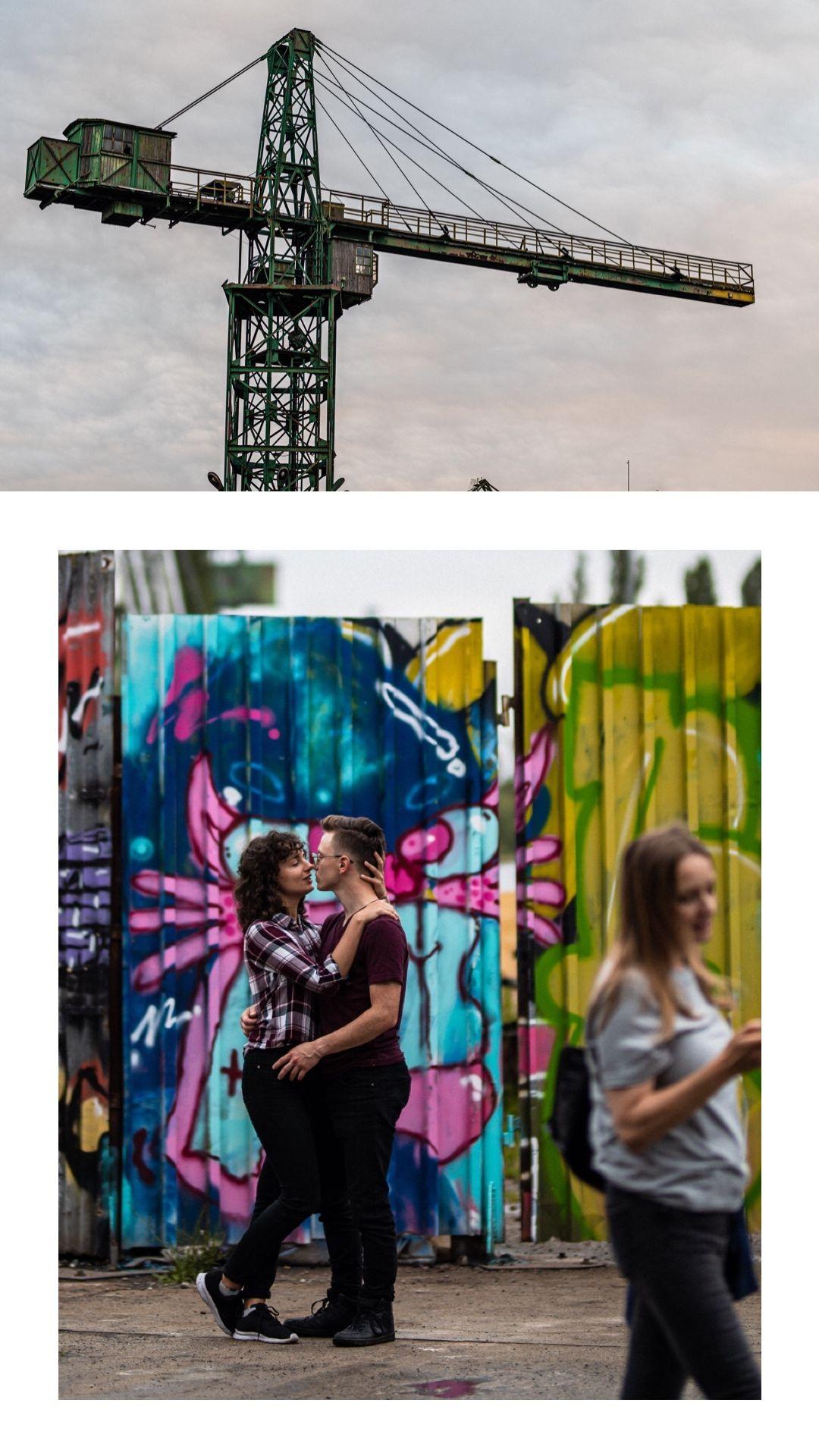sesja narzeczeńska, sesja narzeczeńska Stocznia Gdańsk, industrialna sesja narzeczeńska, sesja w stoczni, elektryków Gdańsk, Sesja Stocznia Cesarska